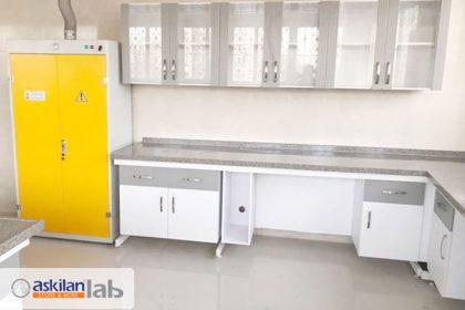 Construction and installation of benching  for laboratory of Azarakhsh Company of Mashhad
