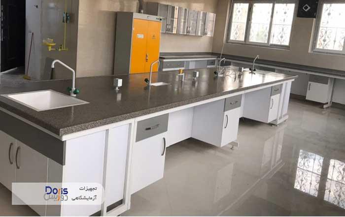 ساخت  و نصب سکوبندی آزمایشگاه شرکت آذرخش مشهد