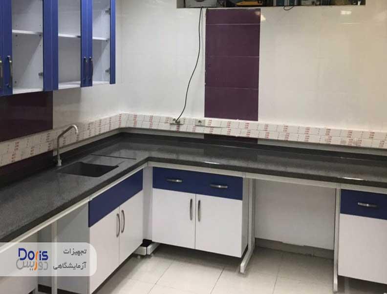 سکوبندی و تجهیز آزمایشگاه شرکت سایپا