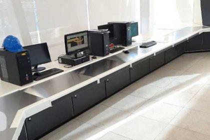 ساخت میز اتاق کنترل  ذوب آهن پاسارگاد